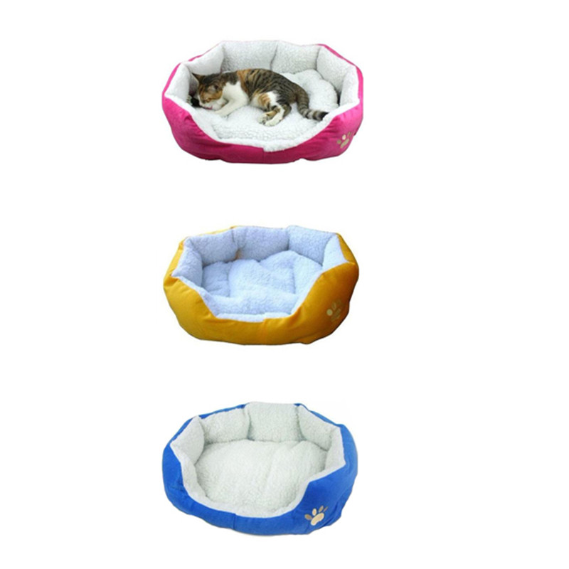 New Cute Comfortable Soft Cotton Footprints Design Style Pet Nest Dog Bed Cat Bed Waterloo Pet Sonno Cuccia Confortevole Hot #2