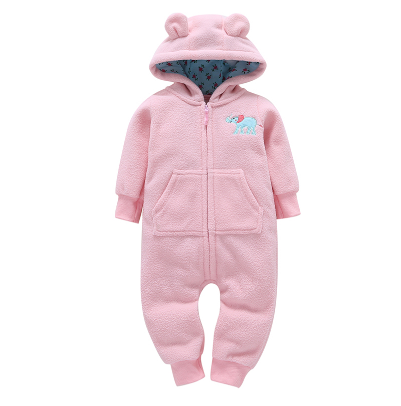 kid boy girl Long Sleeve Hooded Fleece jumpsuit overalls red plaid Newborn baby winter clothes unisex new born costume 2019