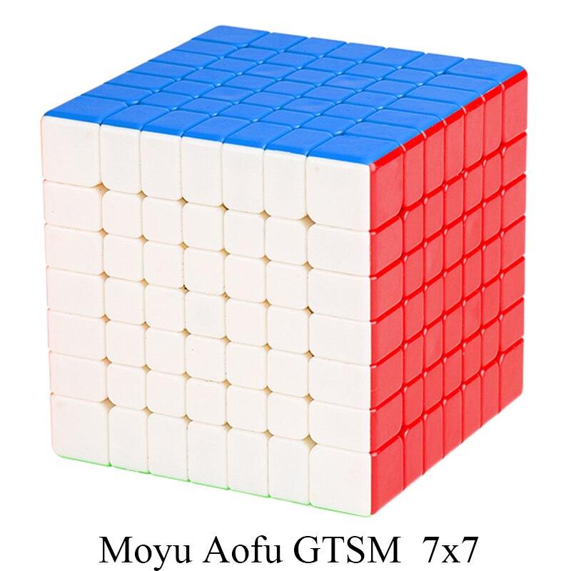 Date MoYu Aofu GTS M 7x7x7 Magnétique Vitesse cube de puzzle Professionnel MagicCube Cubo Magico Aofu GTSM 7x7 68mm Jouets pour Enfants