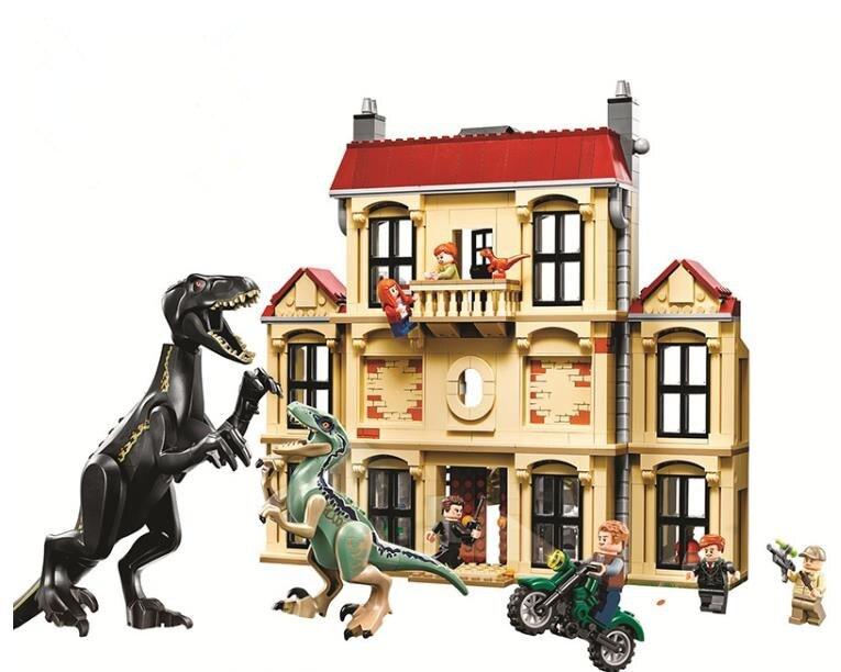 Jurassic World L'indoraptor Rampage à Lockwood Estate Chiffres Blocs De Construction Compatibles Avec Legoinglys 75930 Briques jouets