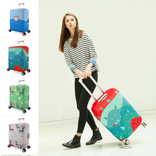 hot deal buy cartoon printed stretch suitcase covers for 20-30 inch rolling luggage protective travel bag suitcase dust cover