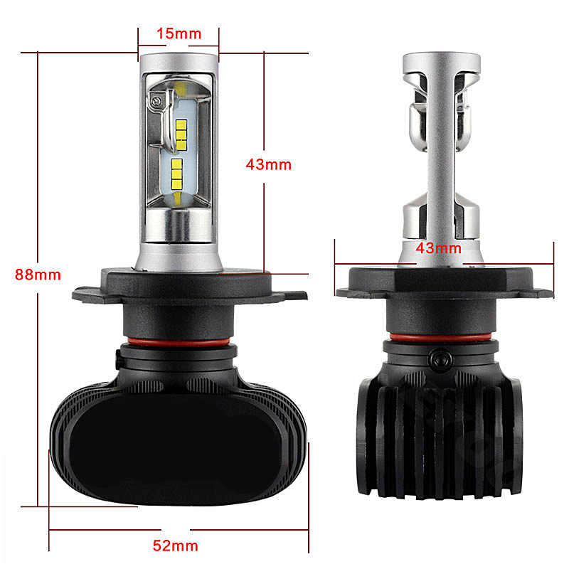 HAOSJ 2Pcs CSP H8 H11 Lamp H4 Led H7 H1 H3 Car Headlight Bulbs For Auto S1 H27 881 HB3 HB4 Led Automotive 12V 50W 8000LM