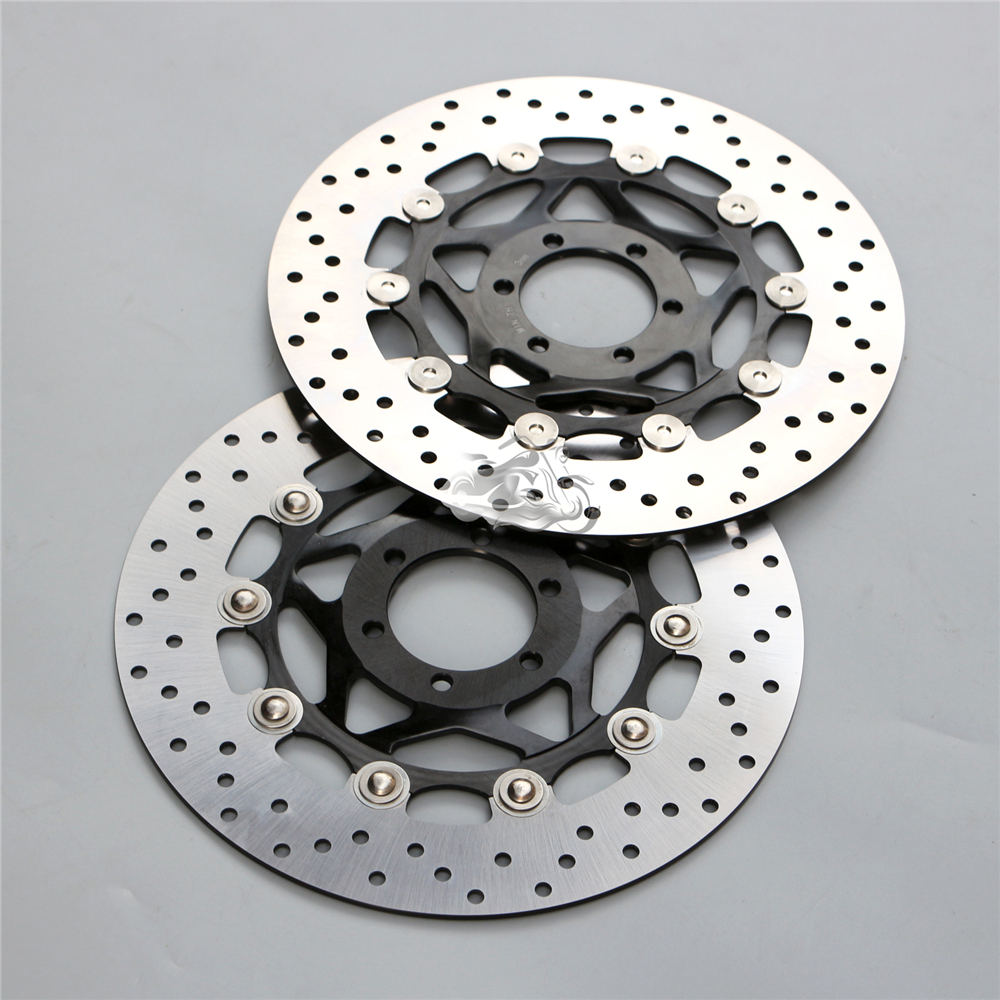 Floating Front Brake Disc Rotor For Motorcycle APRILIA RST 1000 Futura PW/e3/0057 2001-2005 02 03 04 New mfs motor motorcycle part front rear brake discs rotor for yamaha yzf r6 2003 2004 2005 yzfr6 03 04 05 gold