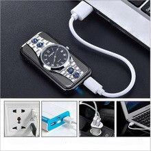 Smoke Dictator Windproof USB Lighter Watch