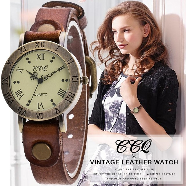 CCQ bRAND Vintage Style Wrist Watch Popular Women Bracelet Watch Classic Quartz