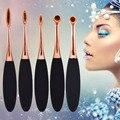 5 pcs Makeup Brushes Conjuntos Escovas de Dente/Kits de Plástico Punho Macio compo a Escova do Pó Fundação Concealer Blush Sombra Beleza ferramentas