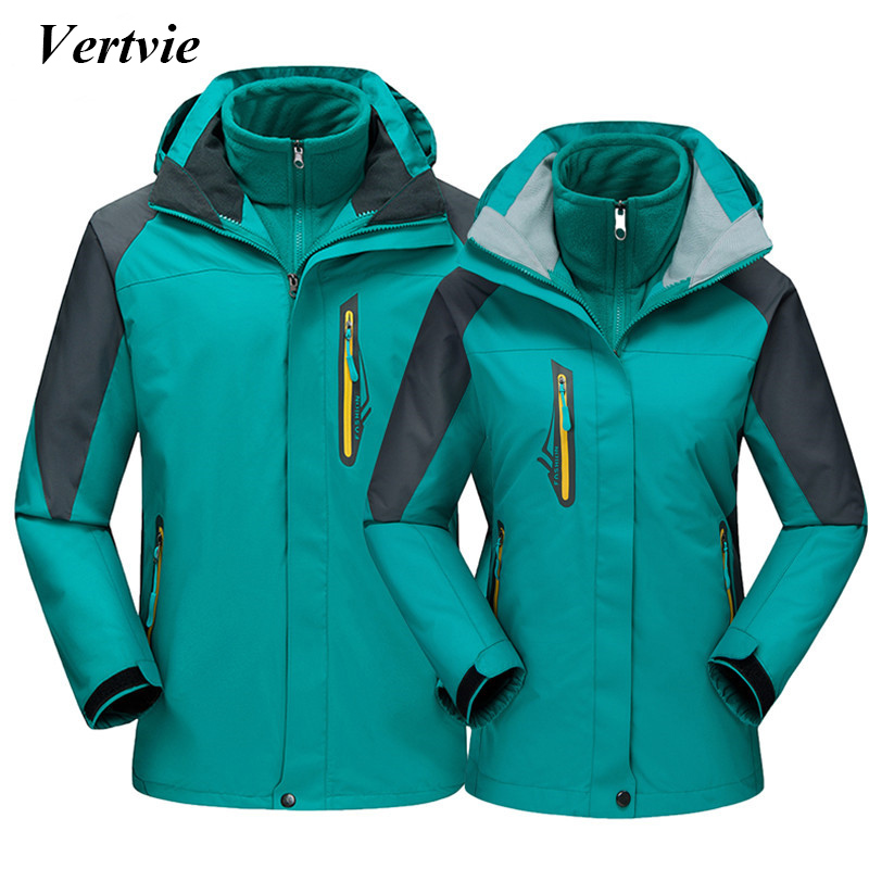 Vertvie New Women Men Outdoor Camping Hiking Jackets Thermal Breathable Windstopper Waterproof Softshell Jacket Autumn Winter