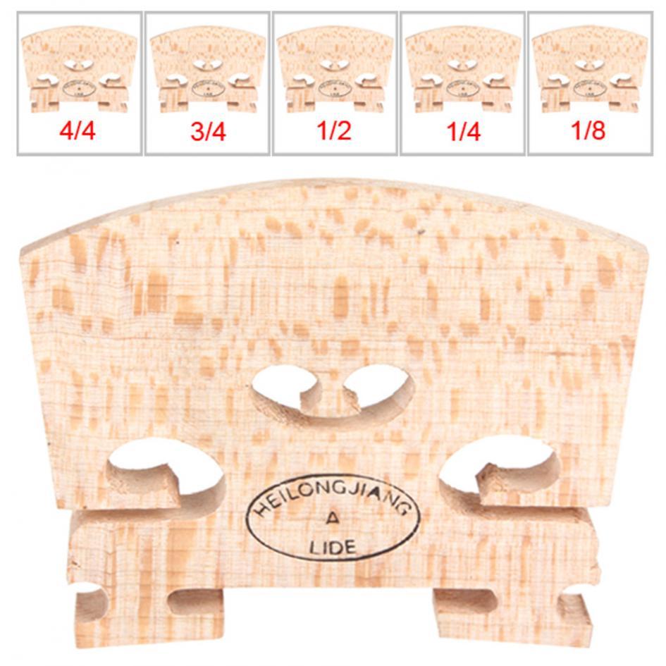 10pcs/lot Maple Wood Violin Bridge Regular Type 1/8 & 1/4 & 1/2 & 3/4 & 4/4 Size Musical Instruments