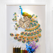 Chinese Peacock Wall Clock Living Room Silent Wall Watch Home Decor Clock Wall Modern Design Large Metal Digital Wall Clocks nordic large wall clock modern design 3d kids silent living room clocks home decor kitchen wall watch klok farmhouse decor 5586