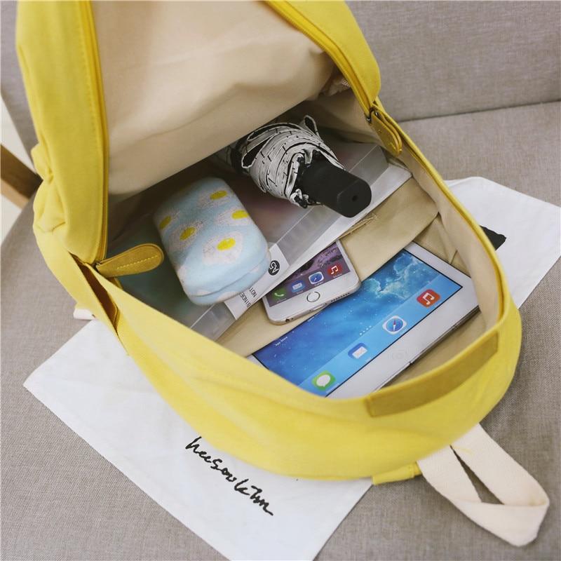 HTB1j7iqXN2rK1RkSnhJq6ykdpXay 2019 Women Canvas Backpacks Ladies Shoulder School Bag Backpack Rucksack for Girls Travel Fashion Bag Bolsas Mochilas Sac A Dos