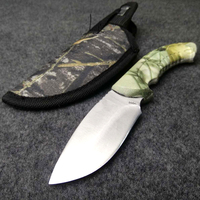BUCK 59HRC 440C Outdoor Camping Knife Tool Fixed Knife Collection Survival Hunting Knife Gift Sheath Fishing