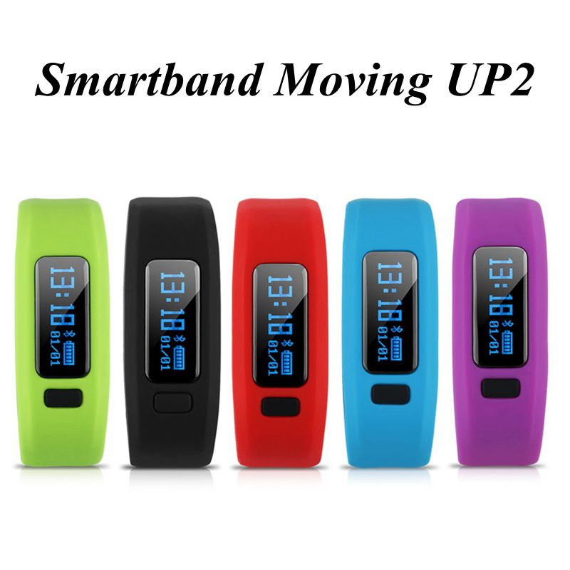 Bluetooth Smartband Moving UP2 Waterproof Passometer Sleep Fitness Smart Band IOS Android Wristb and VS Miband