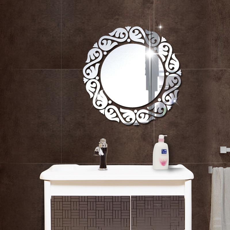 Acrylic DIY decorative mirror wall stickers environmentally friendly high-quality living room bedroom decorative mirror