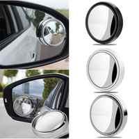 Auto 360 Grad Framless Blind Spot Spiegel Weitwinkel Runden Konvexen Spiegel Kleine Runde Seite Blindspot Rück Parkplatz Spiegel