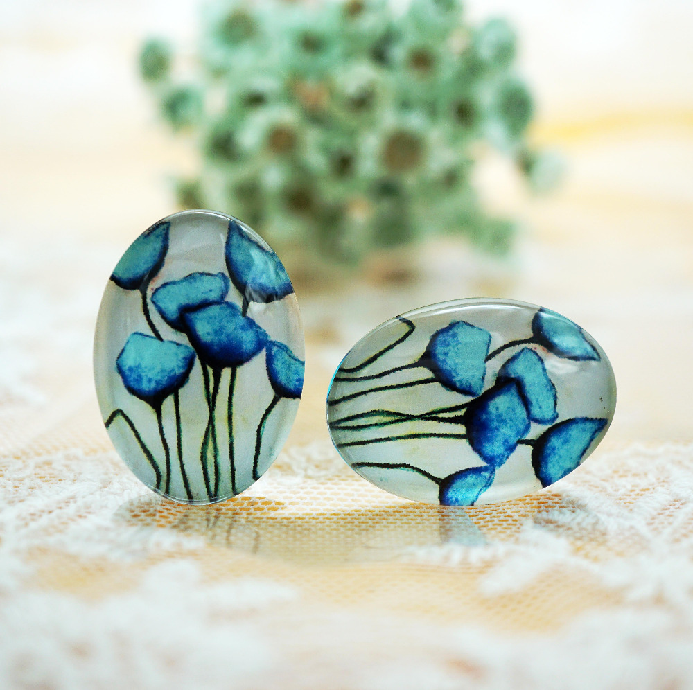 oval round 8mm-40mm/18x25mm/13x18mm/10x14mm Glass Cabochon for bracelet necklace earring rings DIY Jewelry hand made supply
