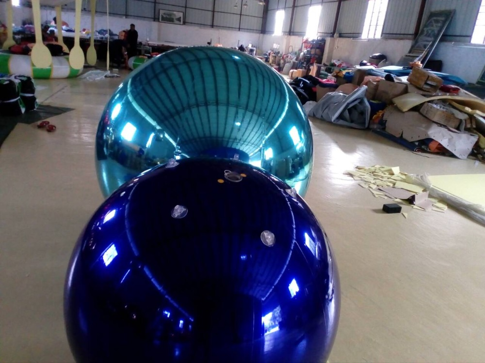 Opblaasbare spiegel bal voor modeshow opblaasbare opknoping