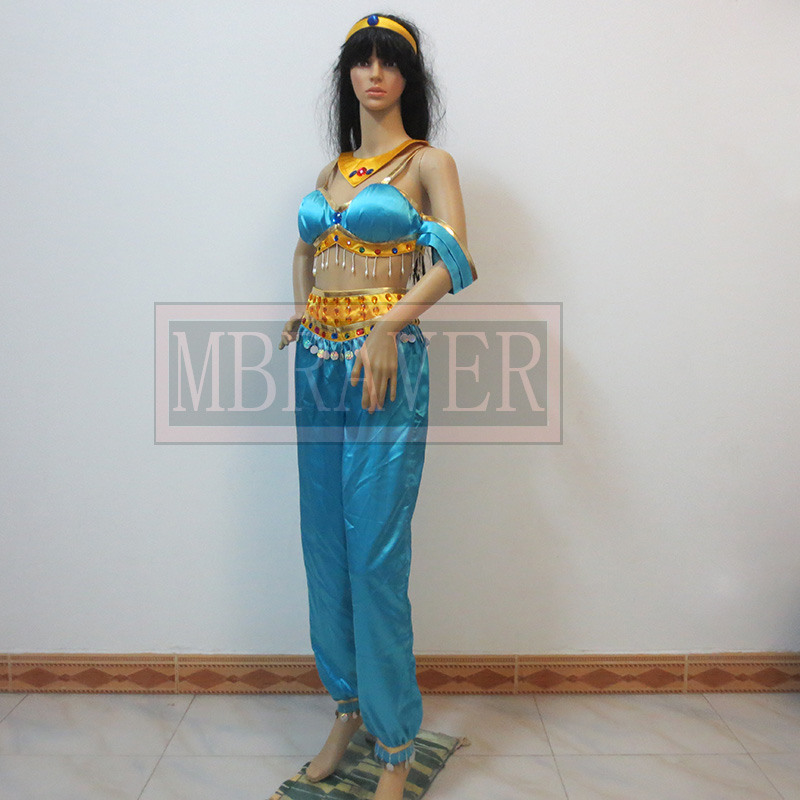 Halloween sexy costume for font b women b font Aladdin and the Magic Lamp Princess Jasmine