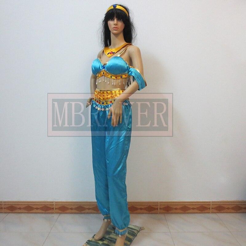 Halloween sexy costume for women Aladdin and the Magic Lamp Princess Jasmine cosplay costume Princess Jasmine costume adults