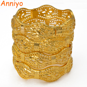 Image 1 - Anniyo 4 Pieces/Openable Dubai Wedding Bangles Ethiopian Bracelet & Bangle for Women African Jewelry Arab Middle East #208206