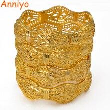 Anniyo 4 sztuk/otwierane dubaj bransoletki ślubne bransoletka i bransoletka etiopska dla kobiet afrykańska biżuteria Arab bliski wschód #208206