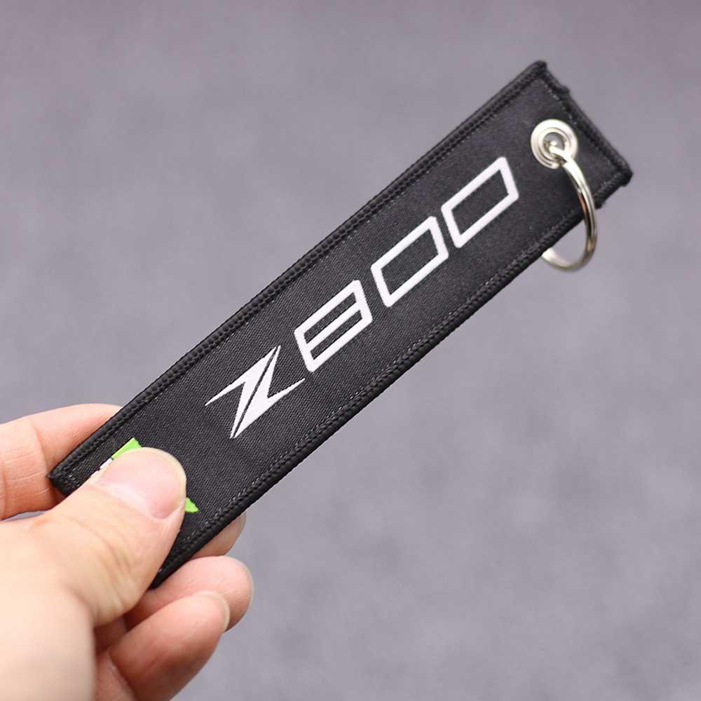 Thêu Key Chủ Chain Bộ Sưu Tập Keychain đối với Kawasaki Z650 Z800 Z900 Z1000 Xe Máy Thêu Huy Hiệu Keyring
