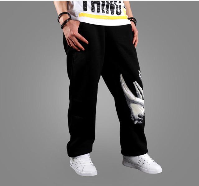 Impressão Soltas Casual Calças Baggy Harem Pants Hippie Hop de Rua Calças De Dança Do Suor