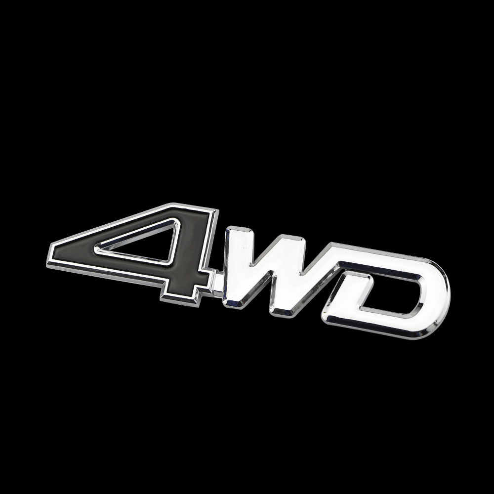 Zlord سيارة الذيل الخلفية الجانب 4WD ملصقا 3D كروم شارة صائق التصميم ملصقات لفورد كوغا إكسبلورر ايفرست الحارس حافة سيارات