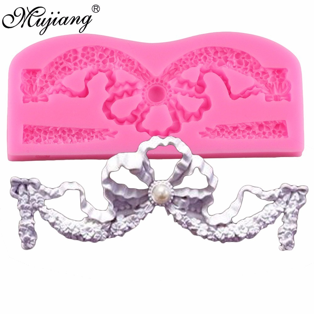 Mujiang Imperial Crown Lace Fondant Molds Wedding Cake ...