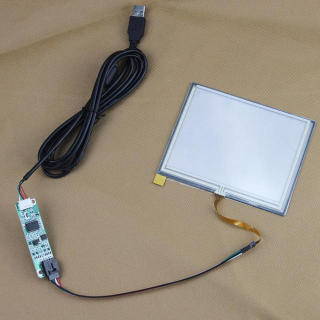 """5.6 """"дюймов 126*100 мм 4 провода Резистивный Промышленности Сенсорный экран Панели Дигитайзер Стекла для 5.6 дюймов TFT ЖК-Дисплей с Контроллером USB"""