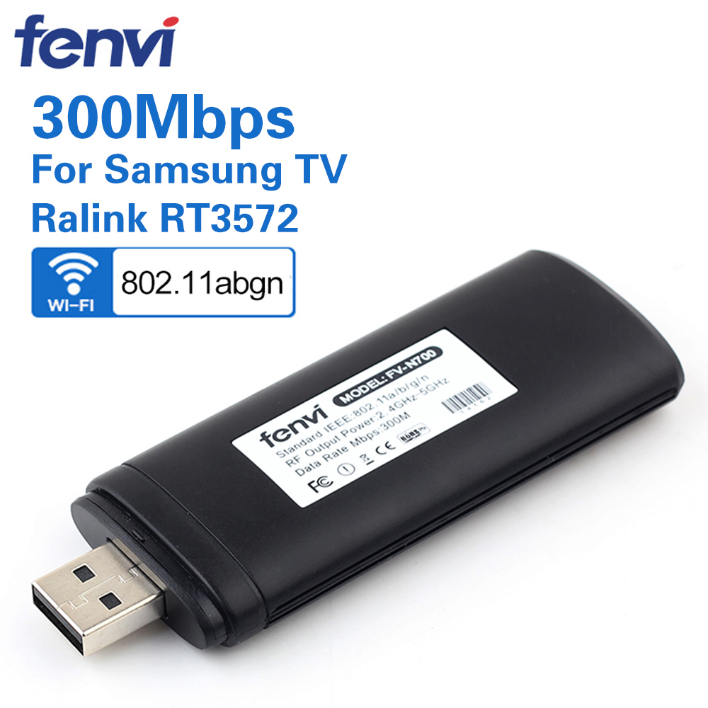 300Mbps Dual Band Wireless USB WiFi Lan Adapter Ralink RT3572 Dongle 2.4G/5Ghz WIS12ABGNX WIS09ABGN For Samsung Smart TV