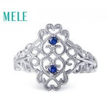 Natural sapphire rings for women,fashion popular style with 925 sterling silver,mian stones are 1.8mm 0.04X2ct,Gift friends