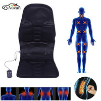Auzan 12V Black Polyester Cloth Massage Cushion Electric Back Neck Massage Chair Seat Relaxation For Body Massageador