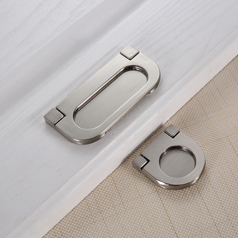 Wardrobe Dark Handle Hidden Flat Knob Invisible Cabinet Door Pulls Modern Minimalist Drawer