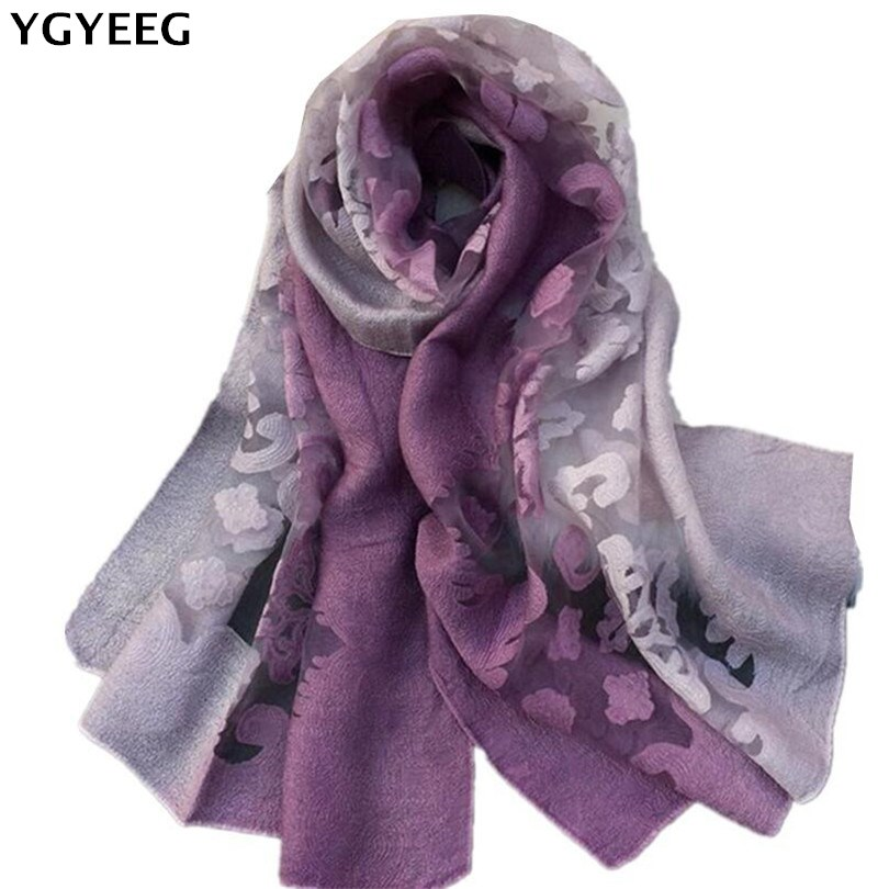 YGYEEG Hot 2018 New   Scarves   Women   Scarf   Spring Summer Silk   Scarves   Shawls And   Wraps   Lady Pashmina Beach Stoles Hijab Foulard