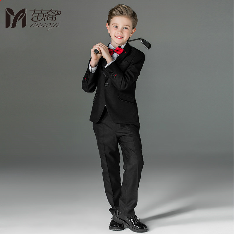 цены 2018 New Boys suit suits children 's suit jacket in the big children' s dress piano costumes flower girl England Style uniforms