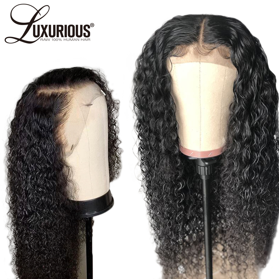 250 Density Long Curly 360 Lace Frontal Wig With Baby Hair Natural Black Color Indian Remy