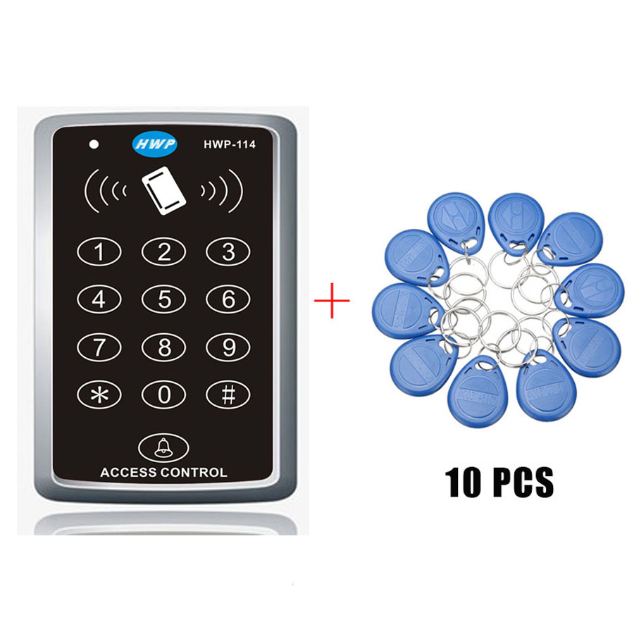 Free shipping  Proximity Door Access Control System with master cards function 125KHZ  10 cards free Keypad Access Control  RFIDFree shipping  Proximity Door Access Control System with master cards function 125KHZ  10 cards free Keypad Access Control  RFID
