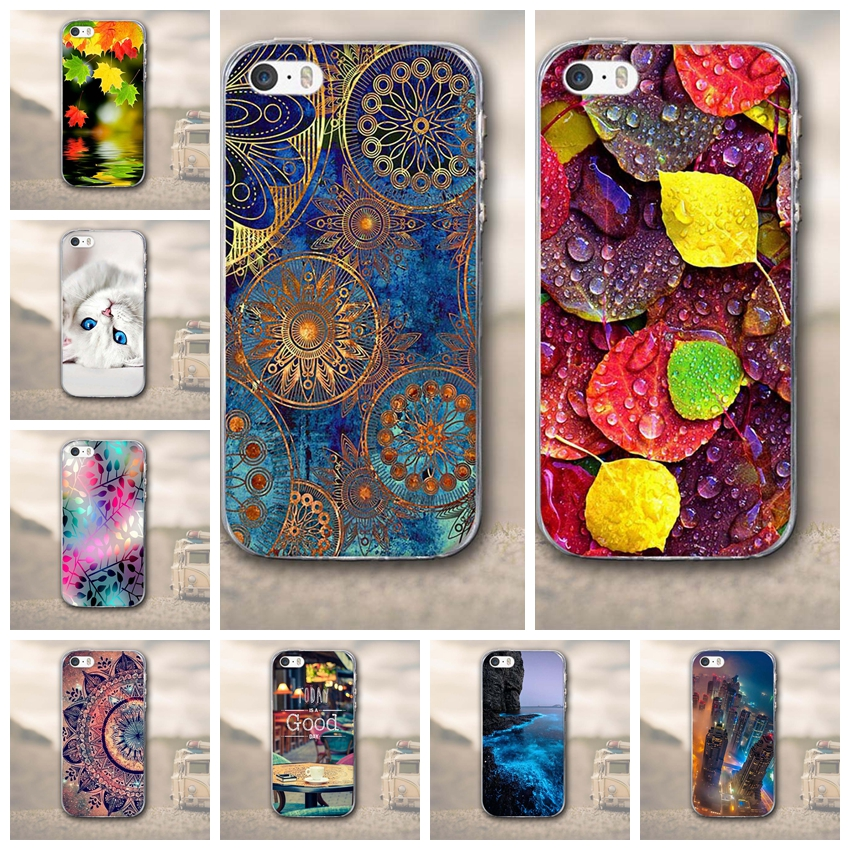 Case for Apple iPhone 5 5S SE iPhone5 Soft TPU Case for iPhone5 for iphone SE for iphone 5s Bags Skin Soft Silicon Back Covers iPhone