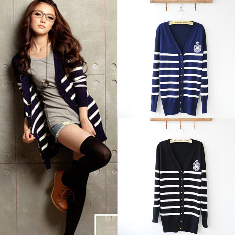 Spring and autumn new Korean style large size cardigan women long ...