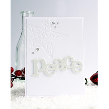 Letters Peace Metal Cutting Dies Stencils For DIY Scrapbooking Decorative Embossing Suit Paper Cards Die Template 2019