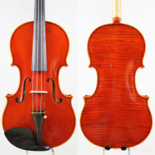 Master Violin!European wood! Antonio Stradivari Copy! Strong and Deep Tone!Free Shipping!AUBERT Bridge!Dominant 135B Strings цена
