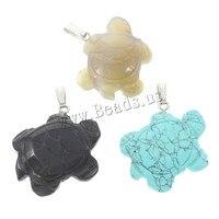 Groothandel Hot Koop Gemengde Natuurlijke Edelsteen Turtle Hangers Quartz Malachiet Hanger voor Ketting