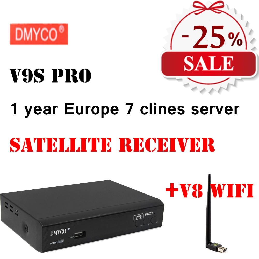 Dmyco V9S Pro DVB-S2 Поддержка xtreamcodes IPTV YouTube YouPorn карт Google webtv Full HD 1080 P спутниковый ресивер сети обмена