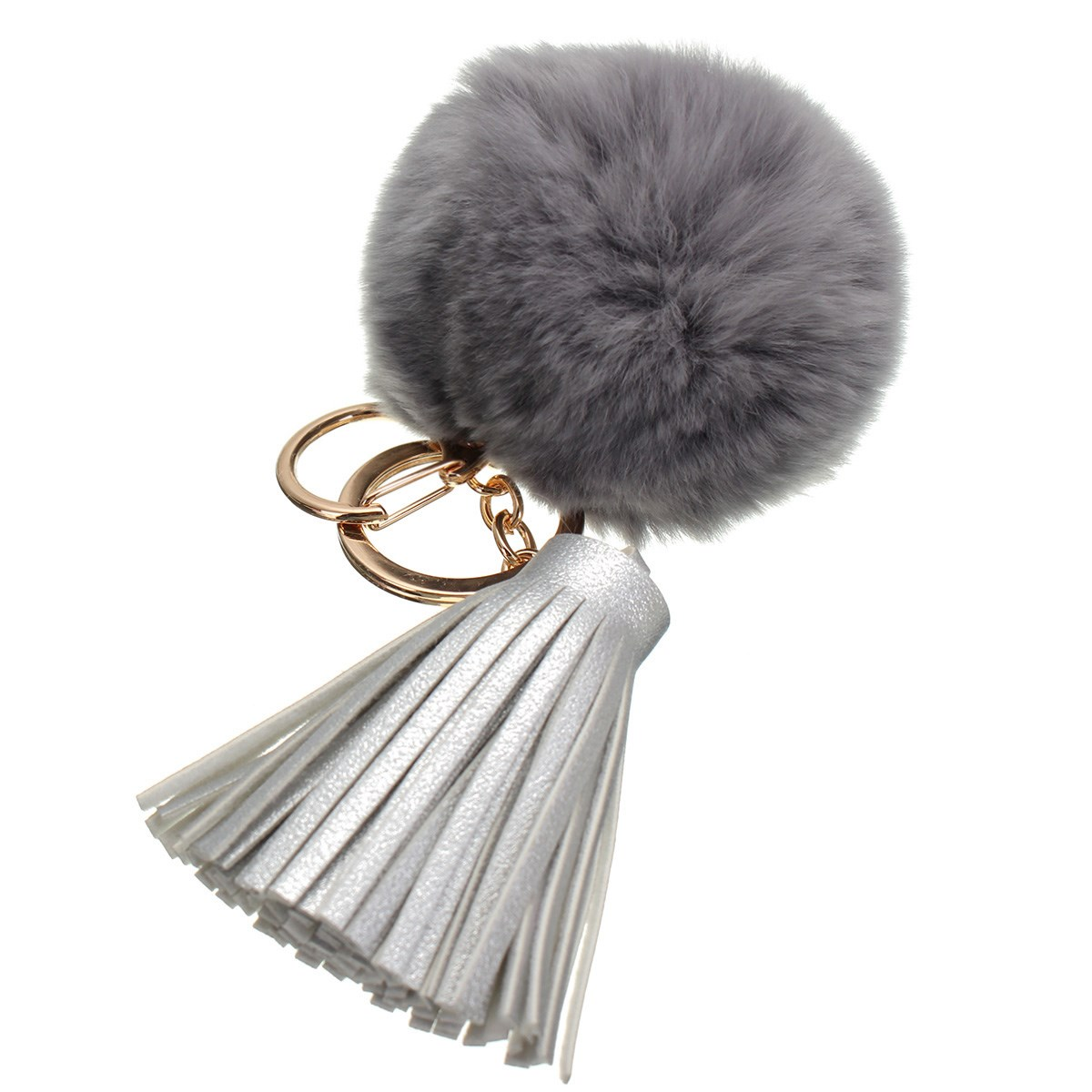 8CM Beaver Rabbit Fur Ball Bags Pendant Fashion Candy Color Cute Bag Accessories Girl Handbag Decoration Tassel Accessories Part