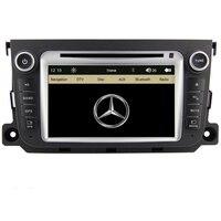 Бесплатная доставка dvd плеер автомобиля GPS навигации Системы Радио для Benz Smart Fortwo 2012 2013 Bluetooth RDS Рулевое управление