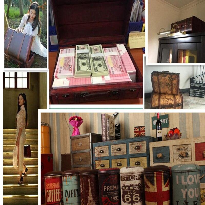Gushifu Houten doos Europese koffer vintage doos Geschenk houten - Home opslag en organisatie - Foto 6
