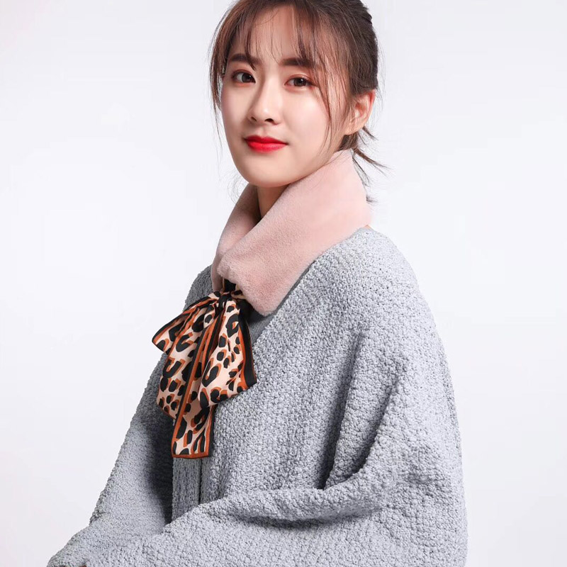 wholesale fashion leopars print neck scarf faux fur shawls capes neck stoles scarfs muffler winter women neck shawls loop scarf in Women 39 s Scarves from Apparel Accessories