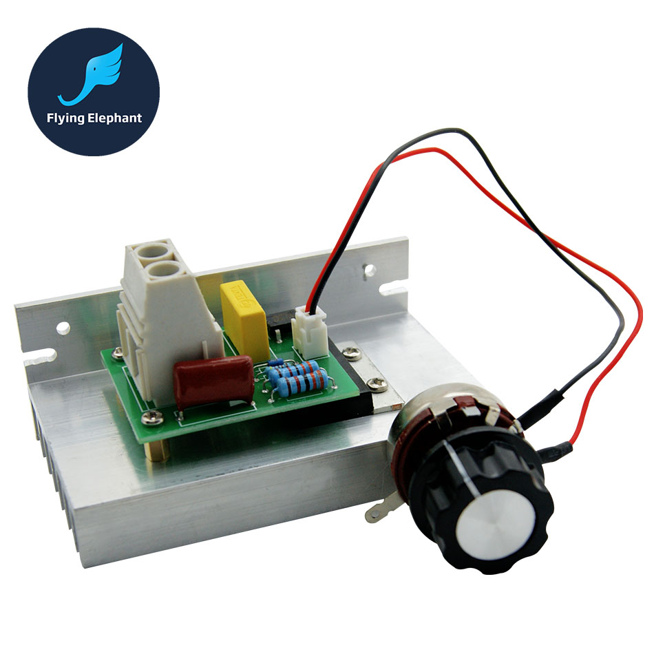 220v Ac Voltage Regulator 50 40a 3800w Dimmer Scr For Lamps Control Polarity Changer 10000w Electronic 10 Thermal Fuse Speed