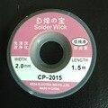 Отпайки Оплетка Припоя Remover Вика Припоя Вика CP 2015 (1 м длина на самом деле футов. 2.0 мм 100 шт./лот
