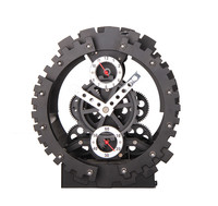 New Arrival Fashion Creative Large Gear Wall Clock Mechanical Gear Mute Wall Quartz Clock Home Decor
